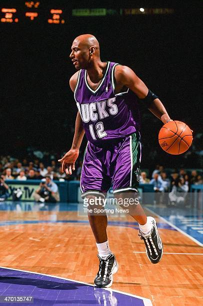 Michael Curry of the Milwaukee Bucks during the game against the Charlotte Hornets on March 31 1999 at Charlotte Coliseum in Charlotte North Carolina