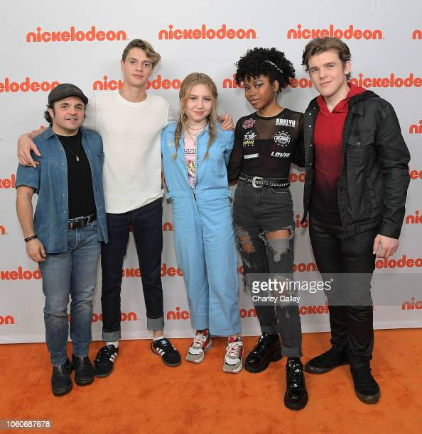 Michael D Cohen Jace Norman Ella Anderson Riele Downs and Sean Ryan Fox attend Nickelodeon' Holiday Party With Casts Of Cousins For Life And Henry...