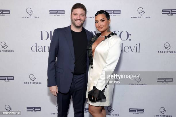 "Michael D. Ratner, Director/Executive Producer OBB Pictures and Demi Lovato attend the OBB Premiere Event for YouTube Originals Docuseries ""Demi..."
