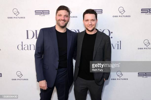 "Michael D. Ratner, Director/Executive Producer OBB Pictures and Scott Ratner attend the OBB Premiere Event for YouTube Originals Docuseries ""Demi..."