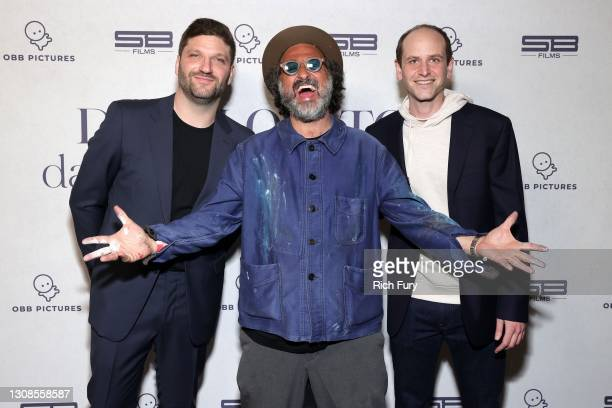 Michael D. Ratner, Director/Executive Producer OBB Pictures, Mr. Brainwash and Kfir Goldberg attend the OBB Premiere Event for YouTube Originals...