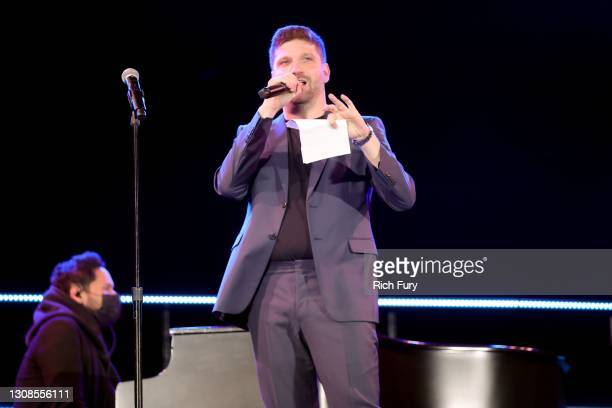 "Michael D. Ratner, Director/Executive Producer OBB Pictures speaks onstage during the OBB Premiere Event for YouTube Originals Docuseries ""Demi..."