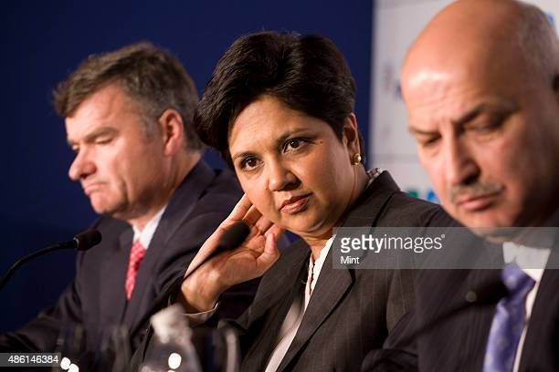 Michael D White Chairman and Chief Executive Officer of PepsiCo International with Indra Nooyi Chairman Chief Executive Officer of PepsiCo Saad...