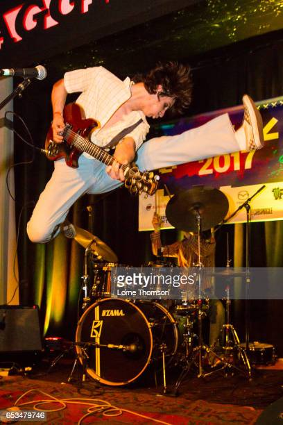 Michael D'Addario of The Lemon Twigs performs at Maggie Mae's on March 14 2017 in Austin Texas