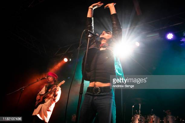 Michael D'Addario of The Lemon Twigs performs at Stylus on February 25 2019 in Leeds England