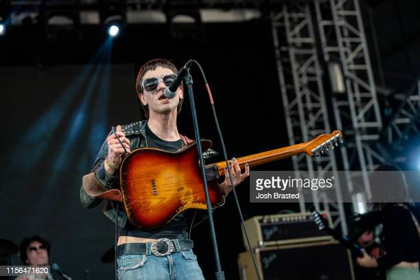 Michael D'Addario of the Lemon Twigs performs at the Bonnaroo Music Arts Festival on June 16 2019 in Manchester Tennessee