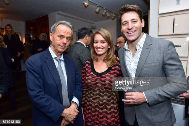 Michael Daly Katy Tur and Tony Dokoupil attend Tina Brown's publication party for The Vanity Fair Diaries at Michael's on November 8 2017 in New York...
