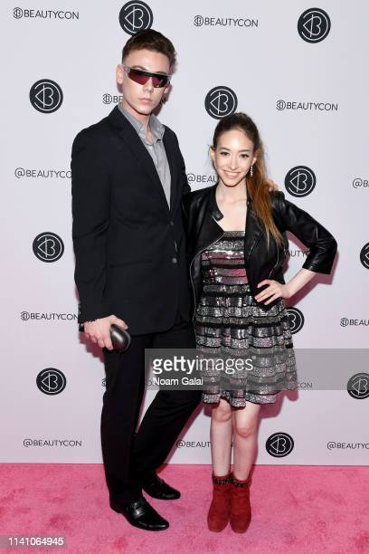 Michael David and Sasha Anne attend Beautycon Festival New York 2019 at Jacob Javits Center on April 07 2019 in New York City