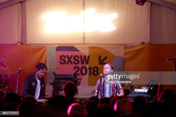 Michael David and Tyler Blake of Classixx perform onstage at Twix Event during SXSW at Lustre Pearl on March 15 2018 in Austin Texas