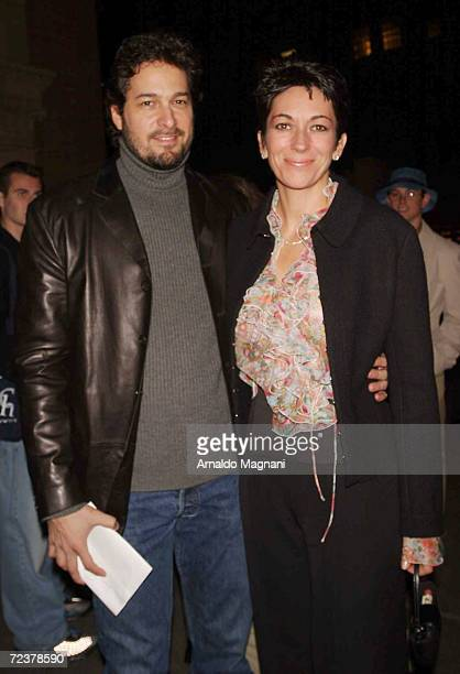 Michael Davis arrives at Carnegie Hall with his girlfriend Ghislaine Maxwell for the Sacred Chants of Tibet concert February 22 2002 in New York City