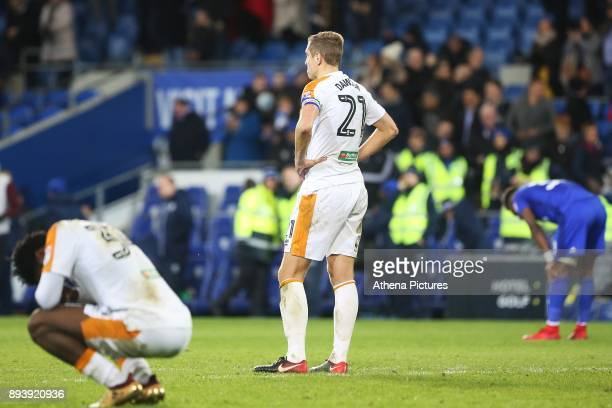 Michael Dawson of Hull City looks on dejected after the final whistle of the Sky Bet Championship match between Cardiff City and Hull City at the...