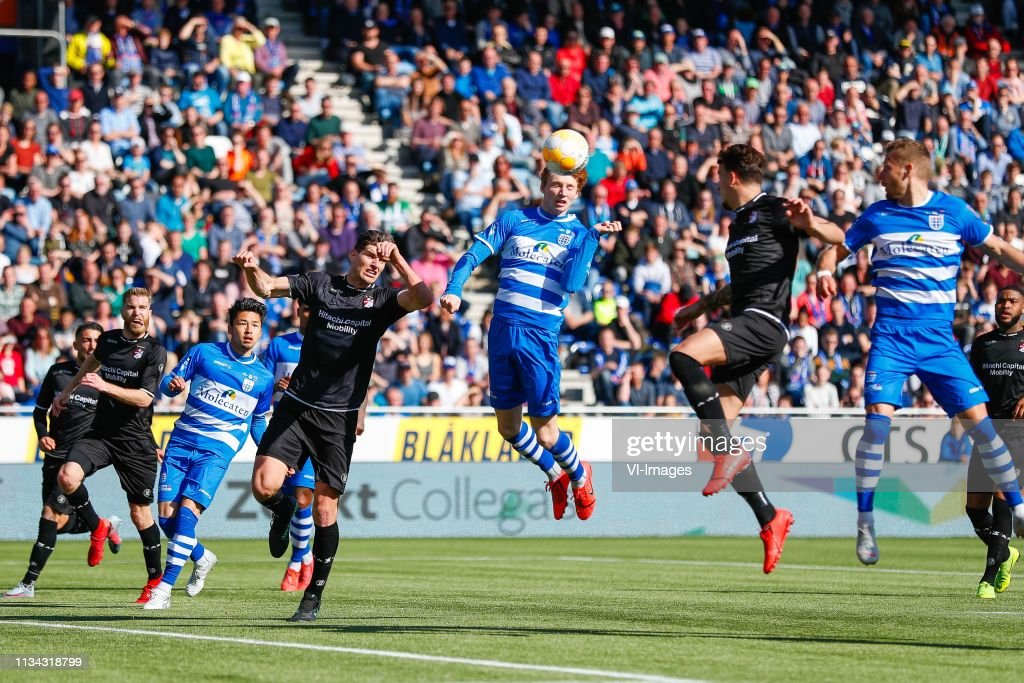Michael De Leeuw Of Fc Emmen Yuta Nakayama Of Pec Zwolle Nick News Photo Getty Images