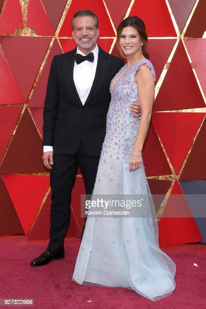 Michael De Luca and Angelique Madrid attend the 90th Annual Academy Awards at Hollywood Highland Center on March 4 2018 in Hollywood California