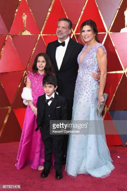 Michael De Luca Angelique Madrid and family attend the 90th Annual Academy Awards at Hollywood Highland Center on March 4 2018 in Hollywood California