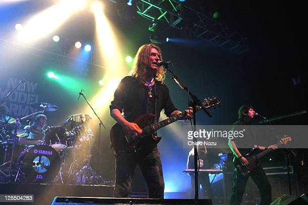 Michael Dean Justin Sullivan Dean White and Nelson of New Model Army perform at The Forum on December 4 2010 in London England