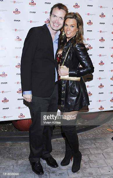 Michael Dean Shelton and Chase Masterson attend the Chi Dynasty Restaurant Chinese New Year's Festival at Chi Dynasty on February 3, 2011 in Los...