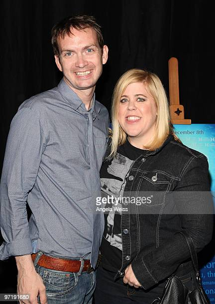 Michael Dean Shelton and Karla Guy attend Kat Kramer's Films That Changed The World screening of 'The Cove' at KTLA Studios on February 28 2010 in...