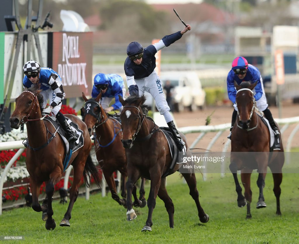 Michael Dee on Foundry wins race 8 the Metropolitan during Sydney Racing at Royal Randwick Racecourse on September 30, 2017 in Sydney, Australia.