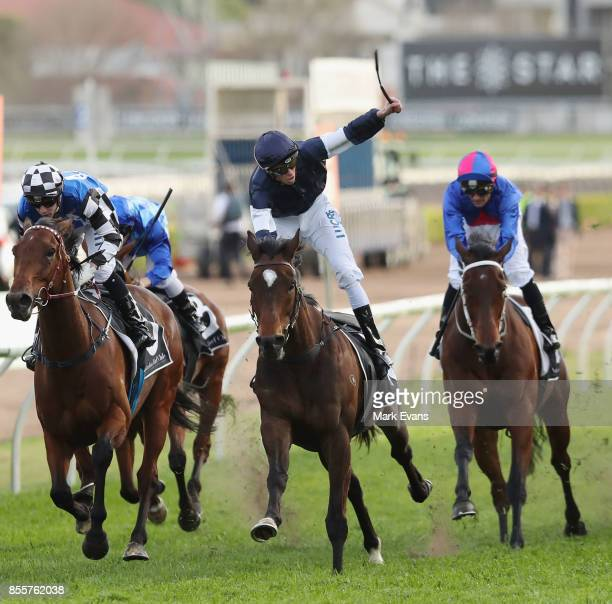 Michael Dee on Foundry wins race 8 the Metropolitan during Sydney Racing at Royal Randwick Racecourse on September 30 2017 in Sydney Australia