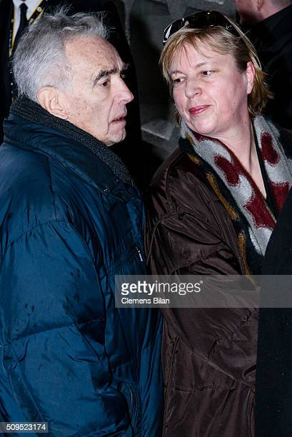Michael Degen and Susanne Sturm attends the Wolfgang Rademann memorial service on February 11, 2016 in Berlin, Germany.