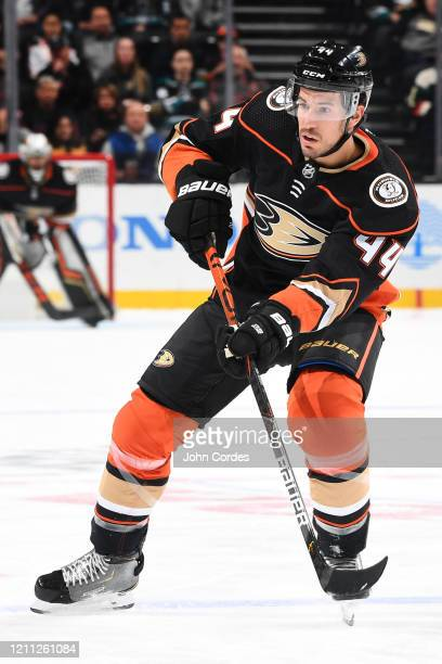 Michael Del Zotto of the Anaheim Ducks skates during the game against the Minnesota Wild at Honda Center on March 8 2020 in Anaheim California
