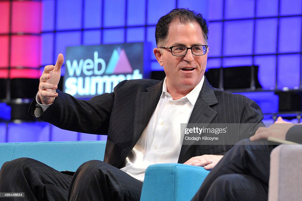 Michael Dell of Dell speaks on stage during the first day of the 2015 Web Summit on November 3, 2015 in Dublin, Ireland. The Web Summit is now in it's 4th year and is technology's most global gathering. In numbers, it has 42,000 attendees from 134 countries, 1,000 speakers, 2,100 startups and 1,200 media.