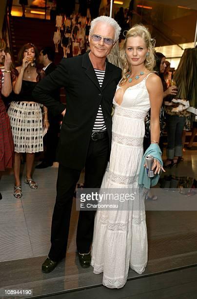 Michael Des Barres and Anouska De Georgiou during Prada Celebrates the Los Angeles Opening of Waist Down Skirts by Miuccia Prada at Prada in Los...