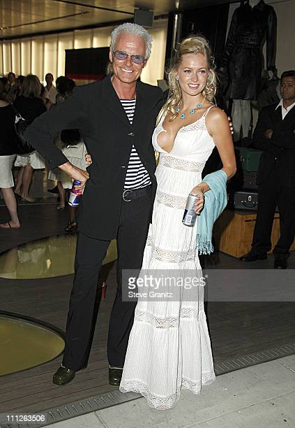 Michael Des Barres and Anouska De Georgiou during Prada Celebrates the Los Angeles Opening of Waist Down Skirts By Miuccia Prada at Prada in...