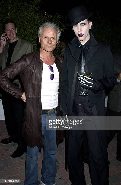 Michael Des Barres and Marilyn Manson during Launch Party For WET By Beefeater at Henson Studios in Hollywood, California, United States.