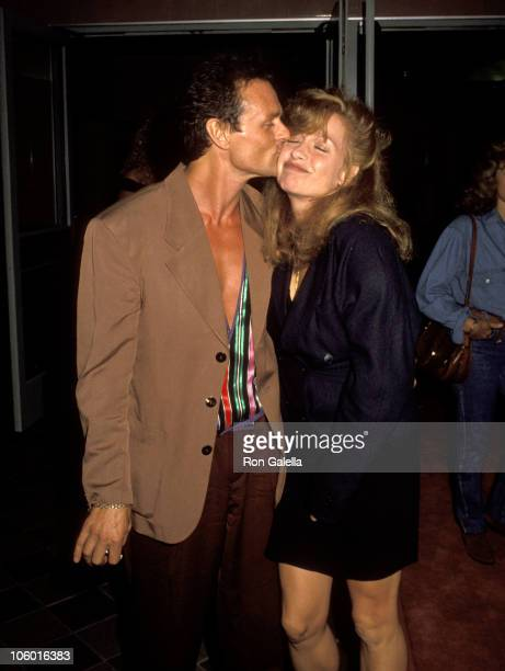 Michael Des Barres and Patti D'Arbanville during Late for Dinner Screening September 19 1991 at Mann Criterion Theater in Santa Monica California...