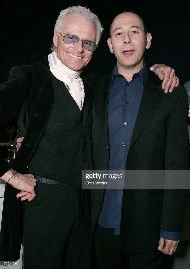 Michael Des Barres and Paul Reubens at the Chateau Marmont in West Hollywood, California