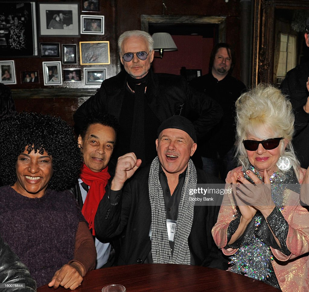 Michael Des Barres, LaLa Brooks, Gary US Bands, Peppy Castro and Christine Ohlman performs at The Cutting Room on January 25, 2013 in New York, New York.