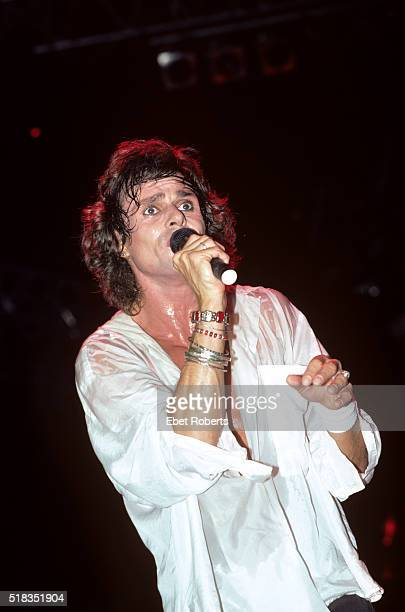 Michael Des Barres performing with Power Station at the Brendan Byrne Arena in East Rutherford, New Jersey on August 28, 1985.