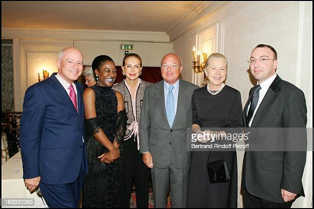 Michael Dewitte and wife Bertrand Viel Le Baron and La Baronne Emmanuel Reille La Duchesse Gersende D' Orleans at The Private Concert By Berlin...