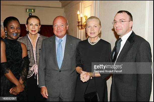 Michael Dewitte and wife with Le Baron and La Baronne Emmanuel Reille La Duchesse Gersende D' Orleans at The Private Concert By Berlin Philharmonic...