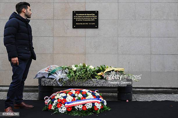 Michael Dias son of the only victim of the Stade de France paid tribute to his father after the unveiling of the commemorative plaque by French...