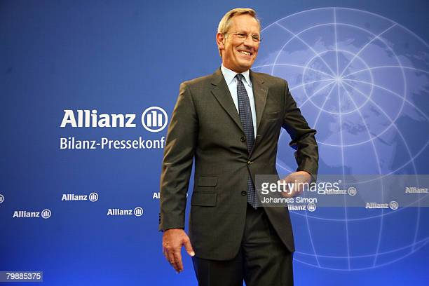 Michael Diekmann CEO of the Allianz insurance group arrives for the announcment of the 2007 results on February 21 2008 in Munich Germany Hitting a...