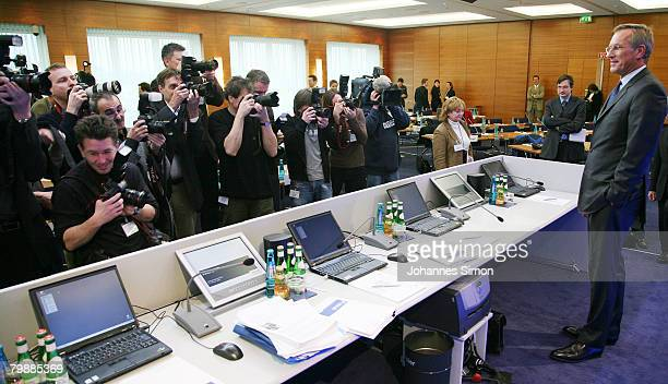 Michael Diekmann CEO of the Allianz insurance group poses prior to the announcment of the 2007 results on February 21 2008 in Munich Germany Hitting...