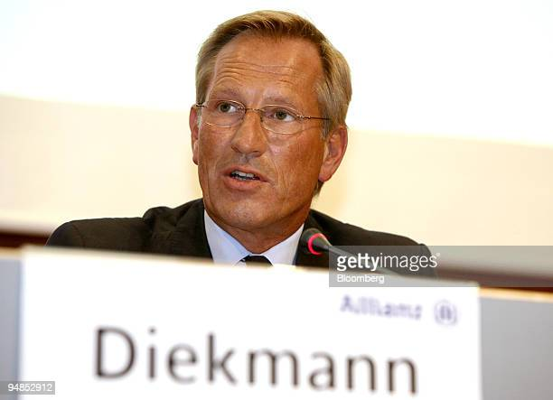 Michael Diekmann chief executive officer of Allianz speaks during a news conference in Frankfurt Germany on Monday Sept 1 2008 Commerzbank AG agreed...