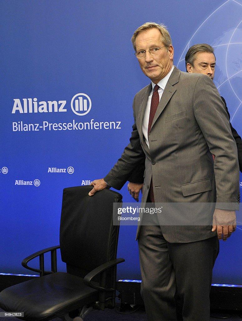 Michael Diekmann, chief executive officer of the Allianz SE : News Photo