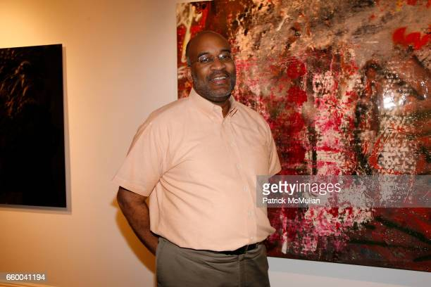 Michael Dinwiddie attends ANDREW LEVITAS works on canvas and steel curated by NEIL GRAYSON at Dactyl Gallery on May 9 2009 in New York City