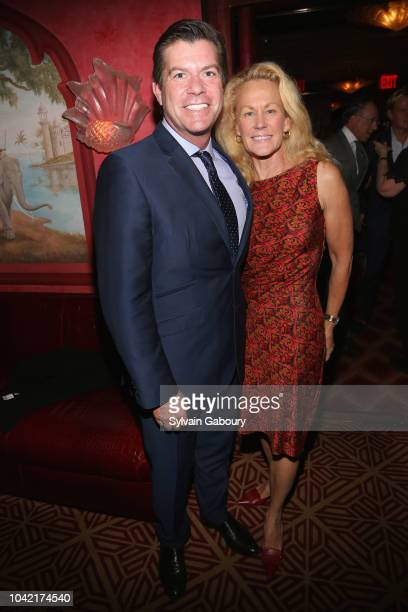 Michael Donnell and Muffie Potter Aston attend David Patrick Columbia And Chris Meigher Toast The QUEST 400 At DOUBLES on September 27 2018 in New...