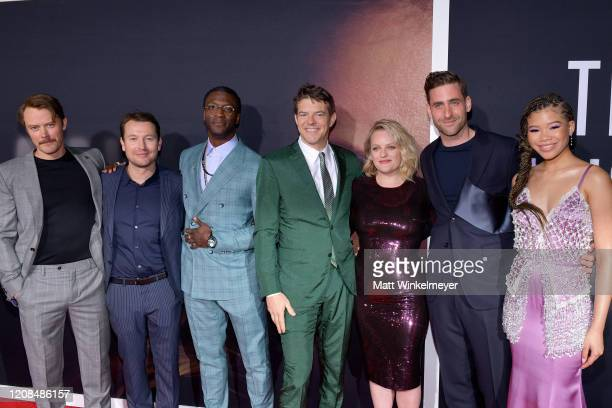Michael Dorman Leigh Whannell Aldis Hodge Jason Blum Elisabeth Moss Oliver JacksonCohen and Storm Reid attend the Premiere of Universal Pictures' The...