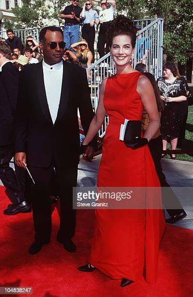 Michael Dorn and Terry Farrell during Star Trek 30 Years and Beyond A Live Tribute at Paramount Studios in Los Angeles California United States