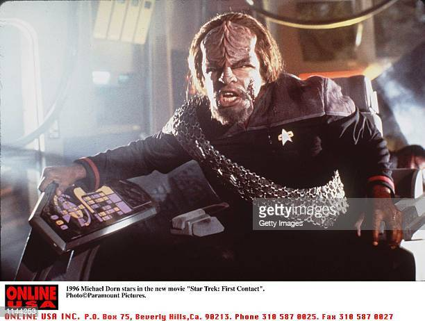 Michael Dorn stars in the new movie 'Star Trek First Contact'