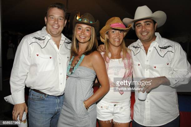 Michael Dorrian, Vaughn Dorrian, Caitlin Tashjian and John Tashjian attend HAMPTONS HOEDOWN Hosted by The DORRIAN and TASHJIAN Families at Private...