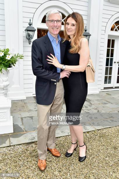 Michael Dougherty and Laurie Sanderson attend Katrina and Don Peebles Host NY Mission Society Summer Cocktails at Private Residence on July 7 2017 in...