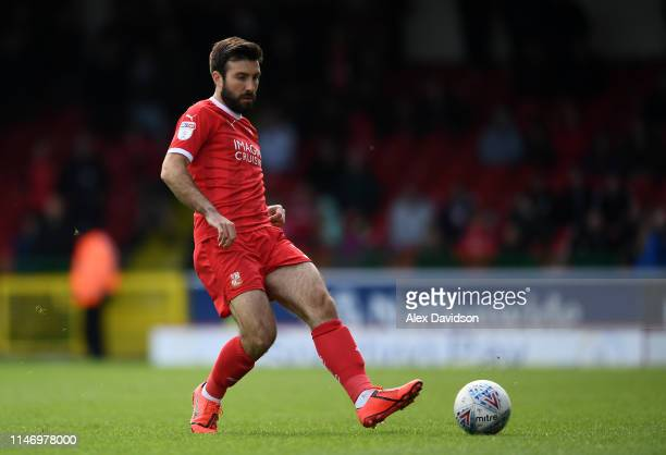 Michael Doughty of Swindon Town during the Sky Bet League Two match between Swindon Town and Notts County at County Ground on May 04 2019 in Swindon...