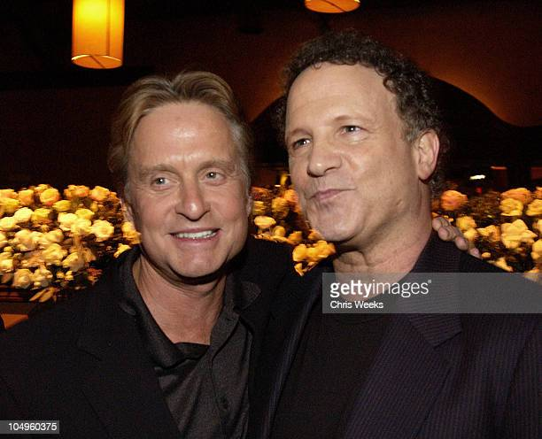 Michael Douglas Albert Brooks during The InLaws Premiere Party at The Sunset Room in Hollywood California United States