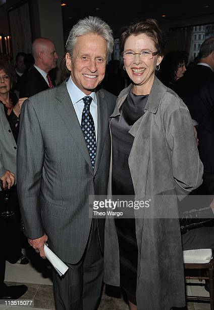Michael Douglas and Annette Bening attend the 6th Annual Stella by Starlight benefit gala at a private residence on May 2 2011 in New York City